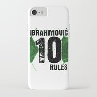 zlatan iPhone & iPod Cases featuring Ibrahimovic 10 Rules by Lara Murasaki