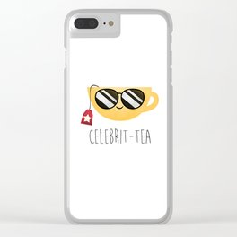 Celebrit-tea Clear iPhone Case