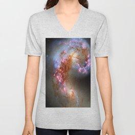 The Antennae Galaxies (NASA/ESA Hubble Space Telescope) Unisex V-Neck