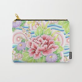 Pastel Kimono Bouquet Carry-All Pouch