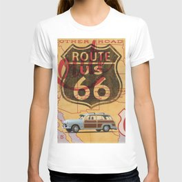 Route 66 Vintage Travel Poster T-shirt