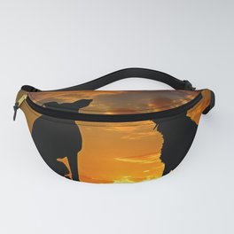 Dogs at Sunset Fanny Pack