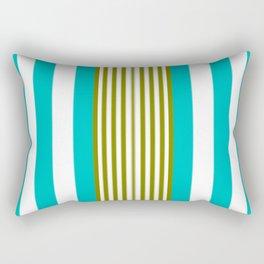 Simply Blue Stripe Rectangular Pillow