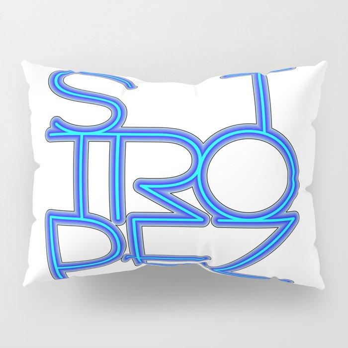 St. Tropez in blue neon Pillow Sham