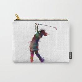 Golf player art 2 Carry-All Pouch