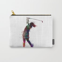 Golf player art 2 Carry-All Pouch