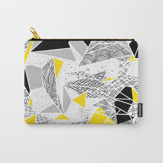 Geometric abstract textures Carry-All Pouch