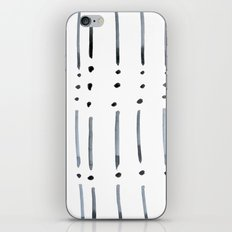 black and white dots and dashes boho modern iPhone & iPod Skin