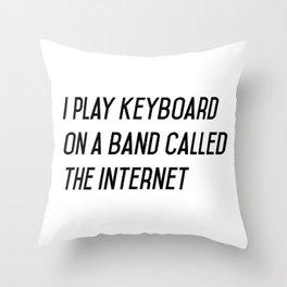 I play keyboard Throw Pillow