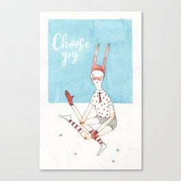 Choose Joy Quote Canvas Print