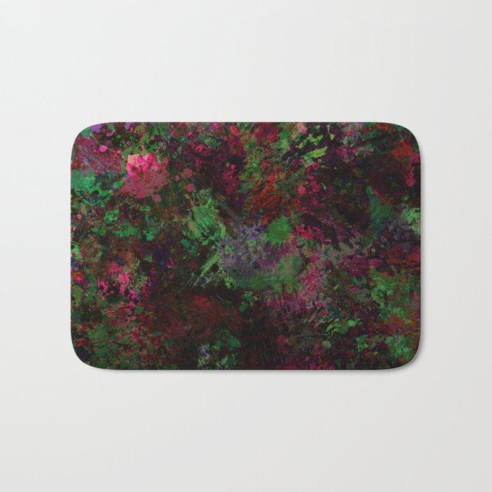 Purple Warfare - Abstract purple, pink, green and black abstract Bath Mat
