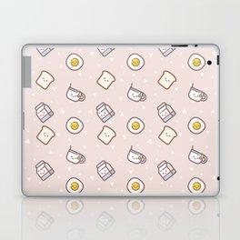 Cute blush pink pastel color funny milk food pattern Laptop & iPad Skin