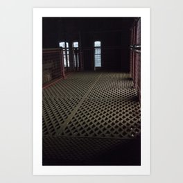 Lattice work floor Art Print