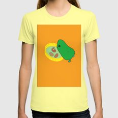 beans2 Womens Fitted Tee Lemon SMALL