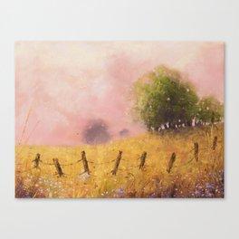 Quiet Pasture Soft Pastel Art Print Canvas Print