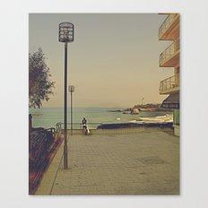 Man's best (surfing) friend Canvas Print