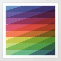 Fig. 040 Rainbow Stripes Art Print