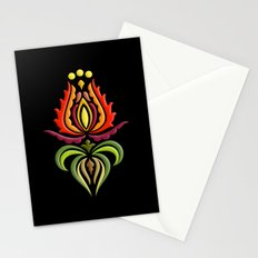 Fancy Mantle on Black Stationery Cards