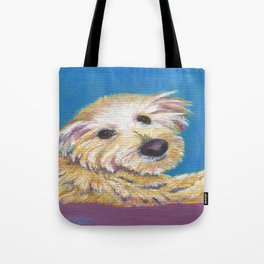 Chance, the Therapy Dog Tote Bag