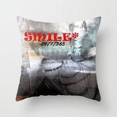 SMILE - 24/7/365 Throw Pillow