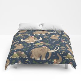 Cute mammoths Comforters