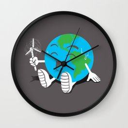 Staying Cool Wall Clock