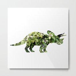 Triceratops Salvia Metal Print