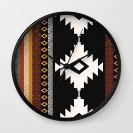 Pueblo in Sienna Wall Clock