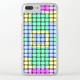Beautiful Pastel Weave Texture Clear iPhone Case