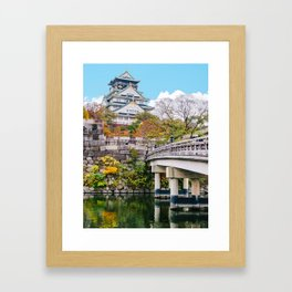 Bridge to Osaka Castle Fine Art Print Framed Art Print