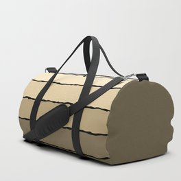 Cream and Beige Duffle Bag