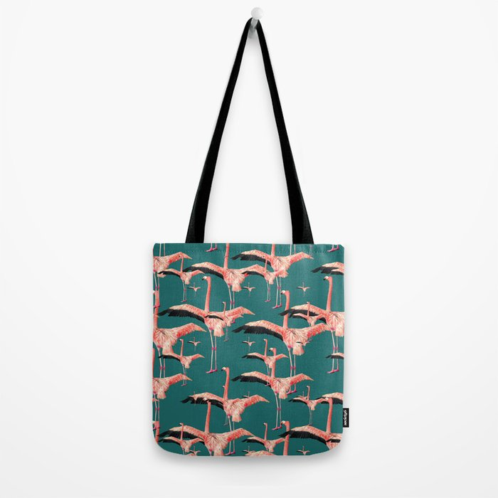 tropical flamingos  Tote Bag