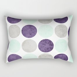 Circles (Mint, Purple, Gray) Rectangular Pillow