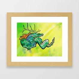 Freckles The Ginger Dragon Framed Art Print
