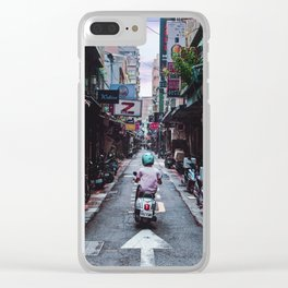 Lin Sen Scooter Clear iPhone Case