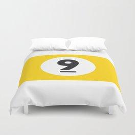 9 ball yellow Duvet Cover