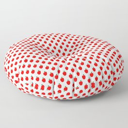 Red Apple Fruit Food Pattern Floor Pillow
