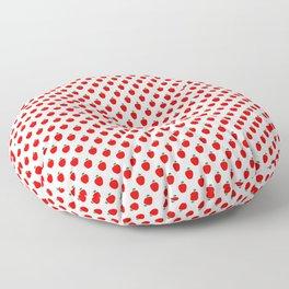 Red Apple Fruit Food Pattern Floor Pillow