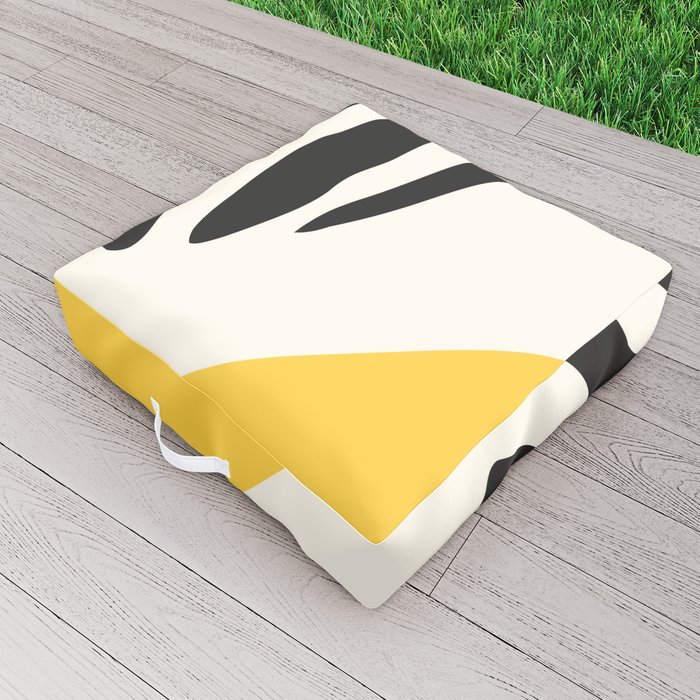 Zebra Abstract Outdoor Floor Cushion