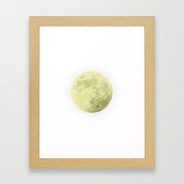 CANARY YELLOW MOON Framed Art Print