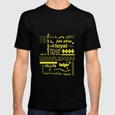Hufflepuff MEDIUM Mens Fitted Tee Black