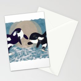 Whale dance Stationery Cards