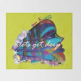 """Let's Get Deep"" Throw Blanket"