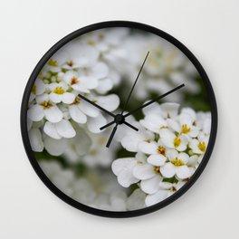 Pretty in White Wall Clock