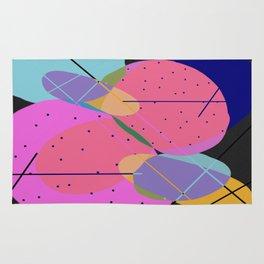 Random Thoughts I - Abstract, minimalist, scandinavian pop art Rug