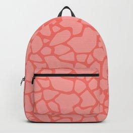 Giraffe spots | Living Coral Backpack