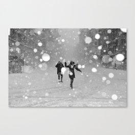 Snow in winter Canvas Print