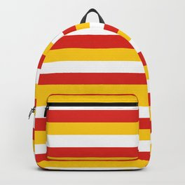 Bhutan dorset flag stripes Backpack