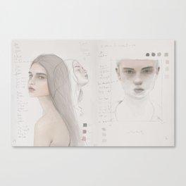 Sketchbook Study & poetry Canvas Print