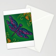 Dragonfly. Fly with me through the wind. Stationery Cards